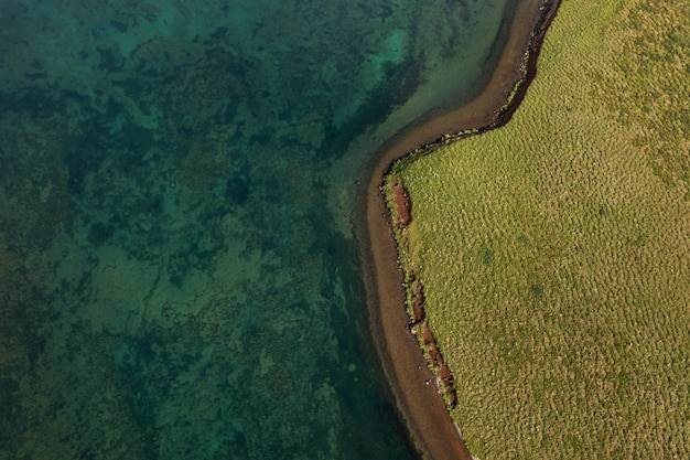 Island landschaft der schönen ebenen