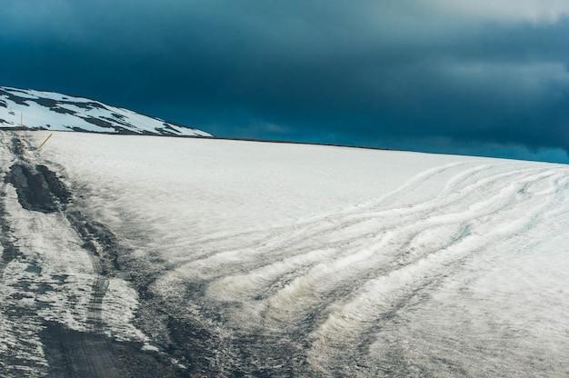 Island landschaftsstraßenfeld
