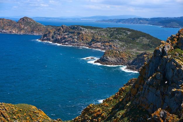Islas cies-inseln antenne in vigo von galizien spanien