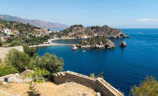 Isola bella strand, taormina, sizilien