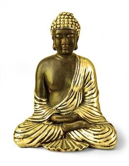 Isolieren sie buddha auf dem weißen hintergrund mit beschneidungspfad