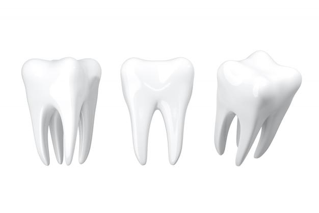 Isolieren sie nahaufnahme beauty white teeth. 3d-rendering