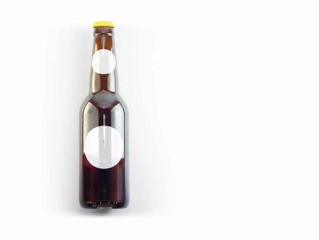 Isolierte bierflasche mock-up - blank label, oktoberfest-konzept.