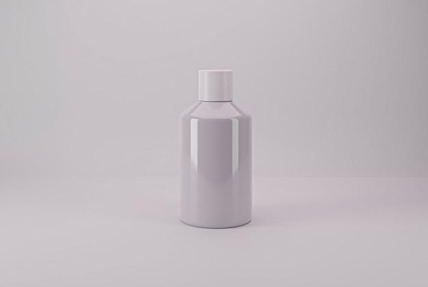 Isolierte kosmetikverpackung bereit für modellbasis