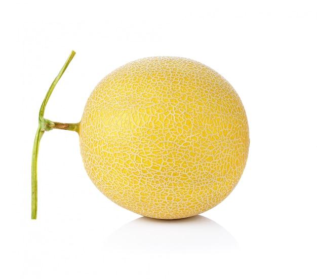 Isolierte melone auf weiß