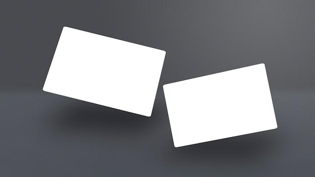 Isolierte packung visitenkarten