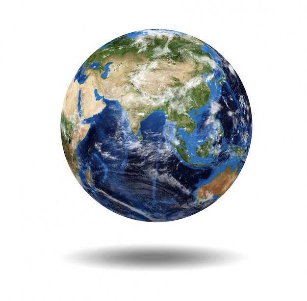 Isolierte planeten globus