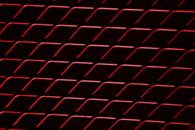 Isolierte rote mesh verdrahtet