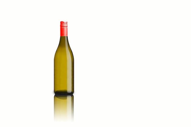 Isolierte verschiedene weinflasche auf weißem hintergrund, fit für ihr design element.3d-rendering.