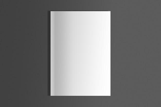 Isolierte weiße zeitschrift über schwarzer oberfläche