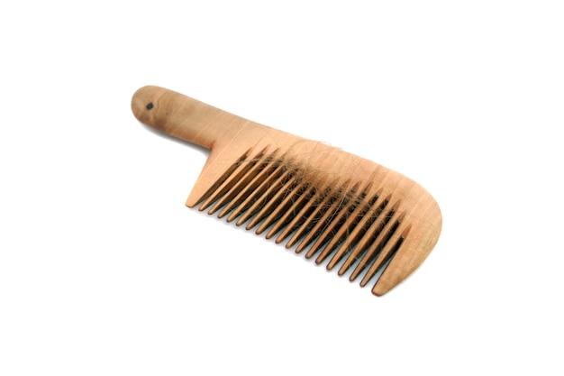 Isolierter kamm mit haarausfall