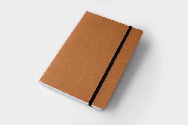 Isoliertes notizbuch