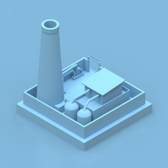 Isometrische blaue fabrik übertragen