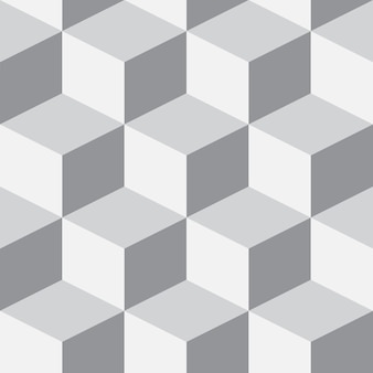 Isometrischer 3d hintergrund mit würfeln. futuristisches geometrisches nahtloses muster. optische täuschung des volumens
