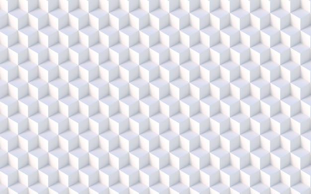 Isometrischer weißer muster-hintergrund der würfel-3d
