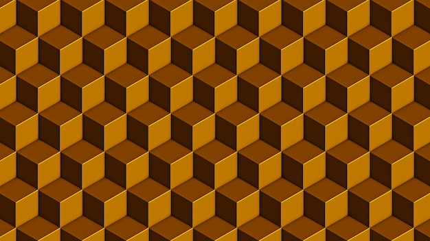 Isometrisches goldschwarzes würfel nahtloses muster
