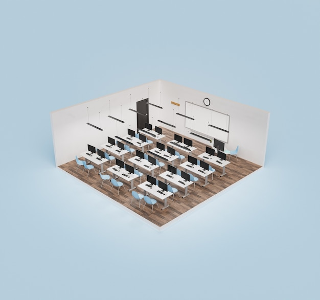 Isometrisches klassenzimmer