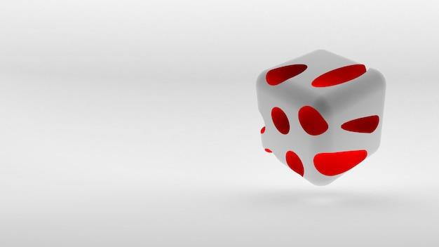 Isometrisches logo-konzept des würfels auf leerraum. 3d-rendering.