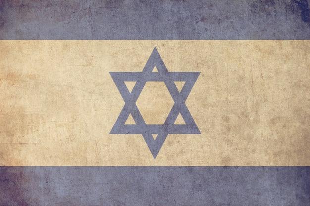Israel-flagge, strukturierte art der alten postkarte