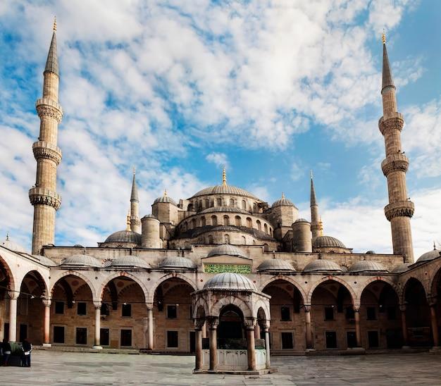 Istanbul-stadt die türkei-blaue moscheenmarksteinarchitektur