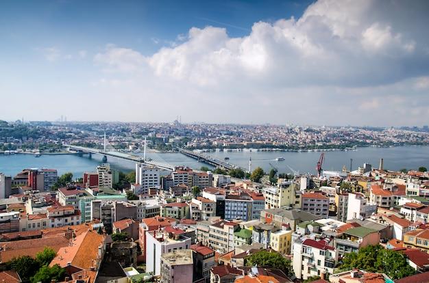 Istanbul und bosporus aus der vogelperspektive