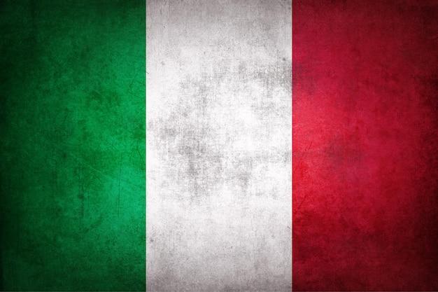Italien-flagge mit grunge-textur.