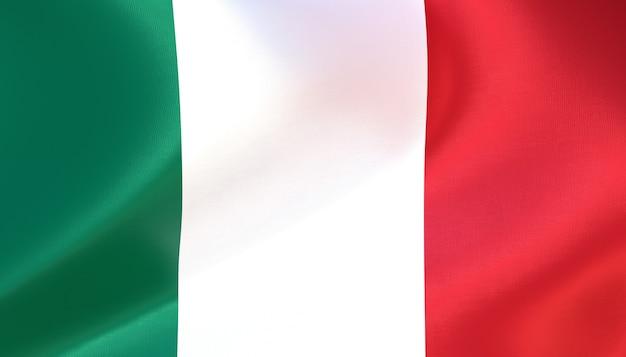 Italien flagge rendern mit textur
