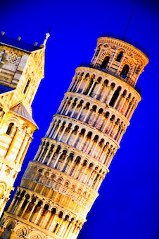 Italien, toskana, pisa, lehnender turm von pisa