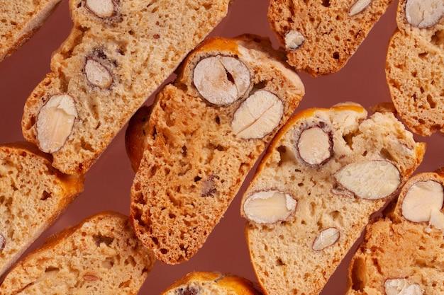 Italienische cantuccini-kekse als hintergrund