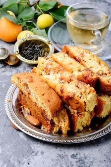 Italienische cantuccini-kekse