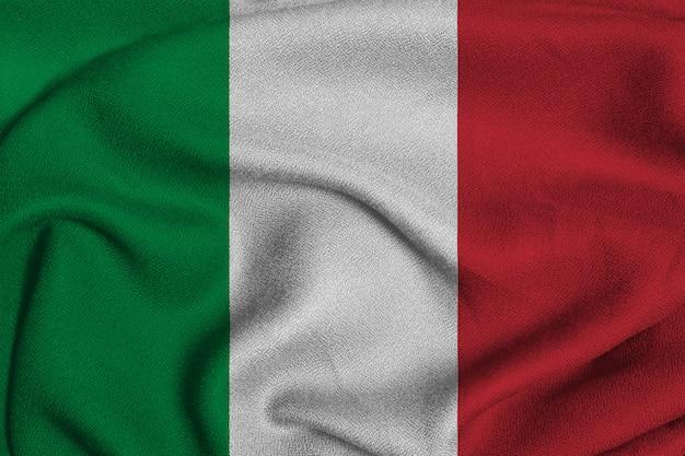 Italienische flagge aus der fabrik-strickware