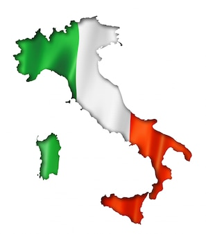 Italienische flagge karte