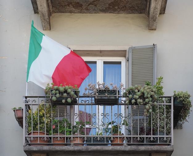 Italienische flagge von italien