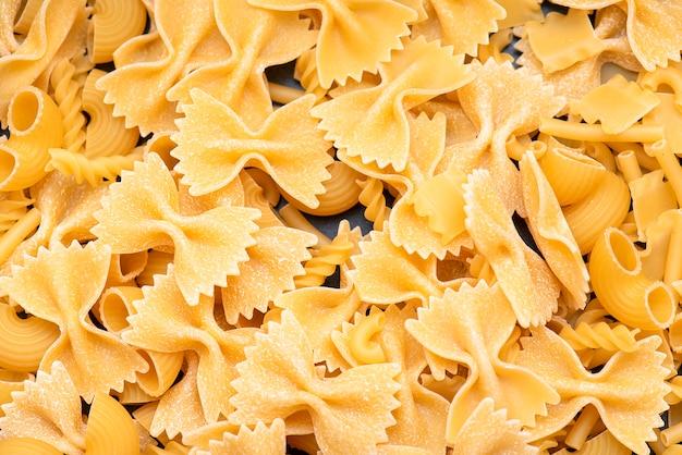 Italienische pasta, formen der trockenen italienischen pasta