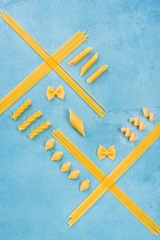 Italienische pastasammlung
