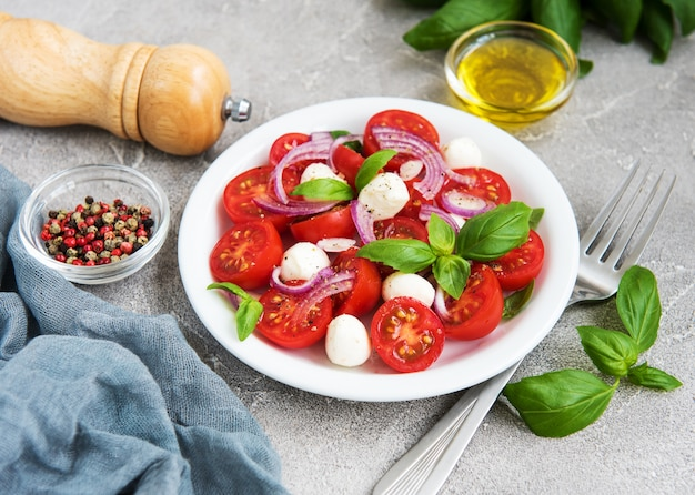Italienischer caprese salat