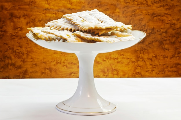 Italienischer karneval kekse-chiacchiere di carnevale