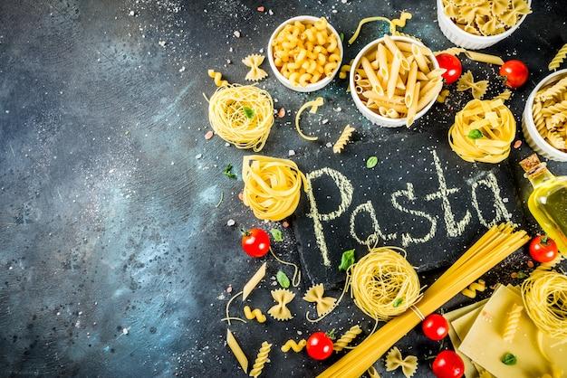 Italienisches pastasortiment