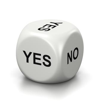 Ja oder nein weiße würfel