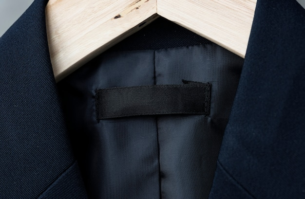Jacke mit leerem markenlabel