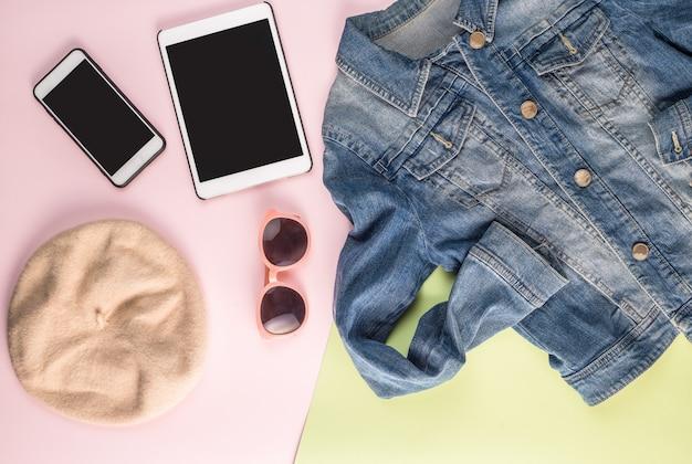 Jacke smartphone sonnenbrille