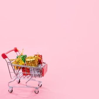 Jahresverkauf weihnachtseinkaufssaisonkonzept