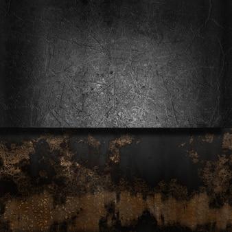 Jahrgang hintergrund mit grunge metall und rost