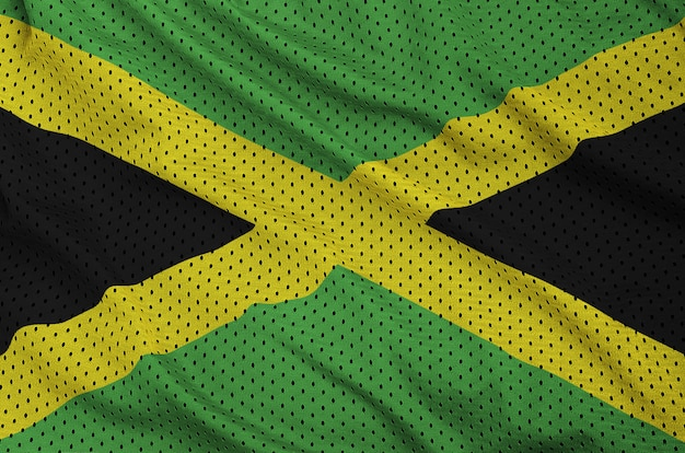 Jamaika flagge gedruckt auf einem polyester nylon sportswear mesh stoff