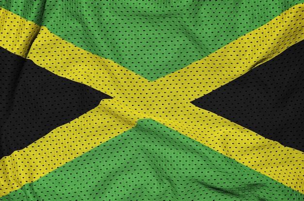 Jamaika flagge gedruckt auf einem polyester-nylonnetz