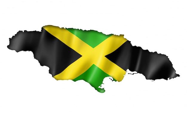Jamaikanische flaggenkarte