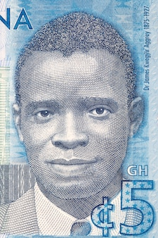 James emman kwegyir aggrey illustration aus ghanaischem geld