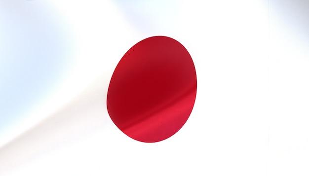 Japan-flagge rendern mit textur