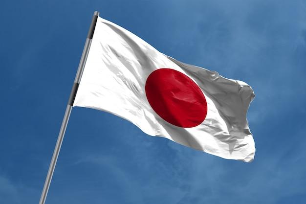 Japan flagge winken