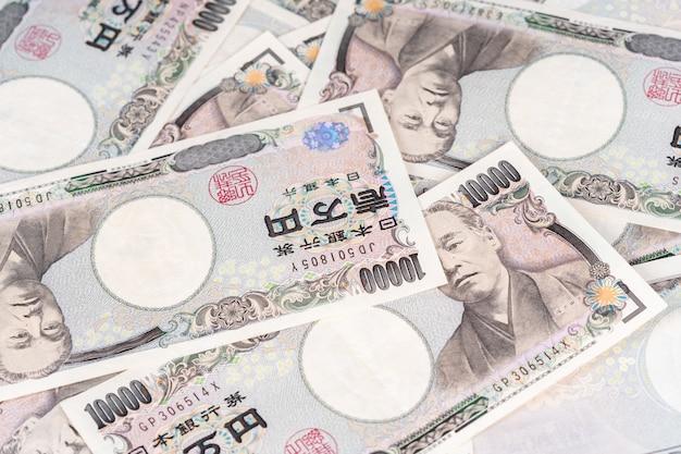 Japanische banknote, yen ist offizielle währung von japan